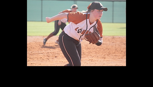 KAYLA GAUTHIER, former Pinconning Spartan and Delta Pioneer, and current Lourdes University Gray Wolf Softball standout                                    --Courtesy Photo