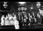 The 1908 Confirmation Class at St. John's Lutheran Church is shown in the original Church building that was located on the south side of Pinconning Road.  Researching the history of the church reveals many changes in church design and the wardrobe of the members.                          --Courtesy Photo