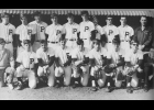 1970 Varsity Baseball team: Front row: (L to R) Manager Mike Lowe, Rick Vagts, Larry Sokolowski, Fred Gies, Rod Filcek, Steve Thompson, Dan Karbowski, Jack Karbowski, Manager Jack Dora; Back row: Dick Laur, Dave Jasura, Rick Rudrow, Pat Whyte, Mick Bourassa, Dan Kruger, John Lambert, Mike Knochel, Jack Dora, Coach Art Krawczyk.                                                                                 --Courtesy Photo