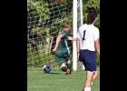 CLINT KANTHE (#14) scores the Spartans' lone goal in the 1-4 loss to Standish-Sterling.            --Journal Photo