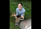 Sisters Karly Lauzon and Laken Schwerin each shot a 9 pt buck on opening morning of the Youth Hunt.                                                             --Courtesy Photo