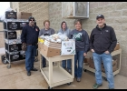 MRS. WEHNER, MRS. DAVIDSON, MR. DAVIDSON, AND MRS. SZAFRANSKI (l-r) helped distribute meals to families with students in the school district on March 23rd at Linwood Elementary.   --Courtesy Photo