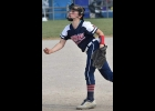 Emma McQuarter, a 5th grader from Pinconning Central Elementary, had a lights out pitching performance in the Riverdawgs win over the Pickney Pirates, allowing only 1 hit with 5 strike outs against the 7 batters she faced. She also had a base hit with 2 RBIs.                                      --Courtesy Photo