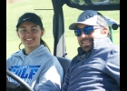 PINCONNING JUNIOR TORI SHARK, shown earlier this year with coach (and dad) Eric Shark, made her third MHSAA Girls Golf State Finals appearance on Saturday.                     --Courtesy Photo